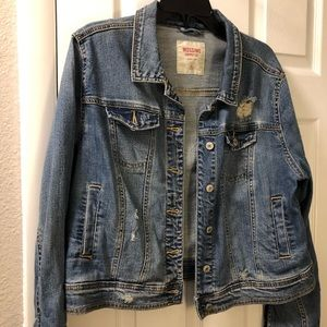 Mossimo Supply Co Distressed Denim Jean Jacket